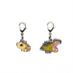 Metal keychain Hippopotas Hippowdon 449・450 japan plush