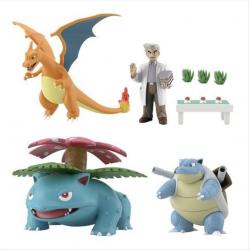 Figure Pokemon World Scale Professor Oak and Pokemon japan plush