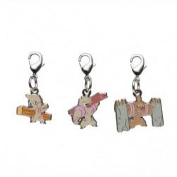 Metal keychain Timburr Gurdurr Conkeldurr 532・533・534 japan plush