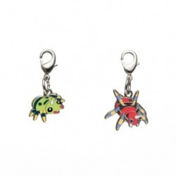 Metal keychain Spinarak Ariados 167・168 japan plush