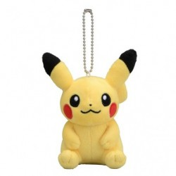 Plush Keychain Pikachu Sit japan plush