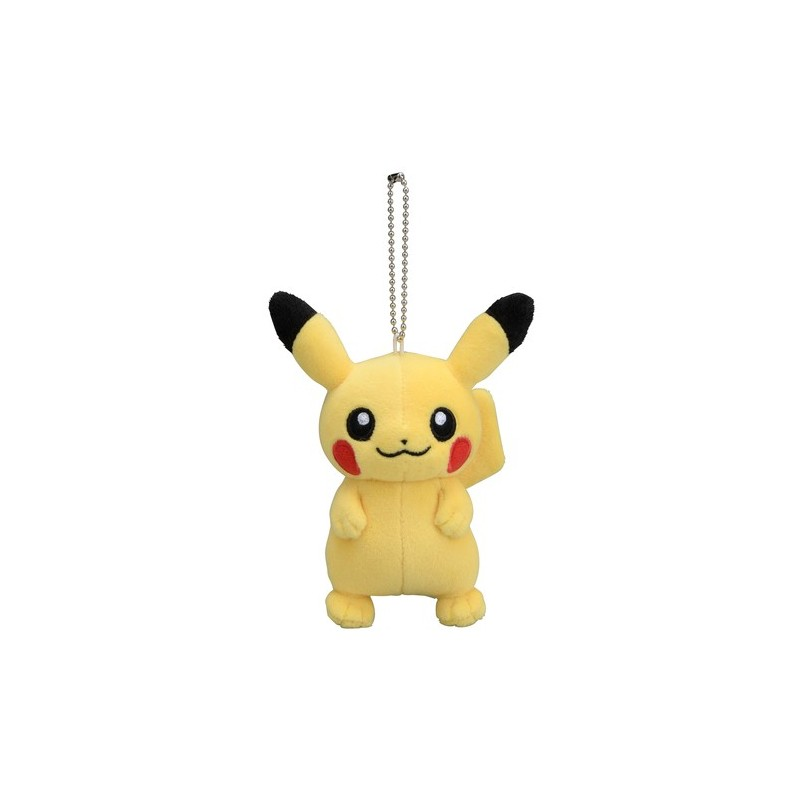 """6.5/"""" Pokemon Pikachu Plush Mascot Doll with Fabric Lanyard Key Chain ~NEW~"""