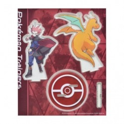 Acrylic keychain Pokémon Trainers Lance and Dragonite japan plush