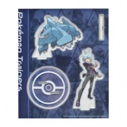 Acrylic keychain Pokémon Trainers  Steven Stone and Metagross japan plush