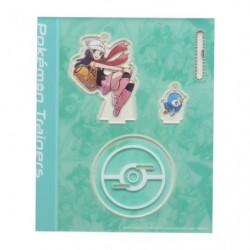 Acrylic keychain Pokémon Trainers Dawn and Piplup japan plush