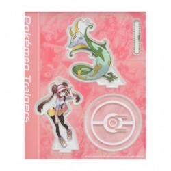 Acrylic keychain Pokémon Trainers Rosa and Serperior japan plush