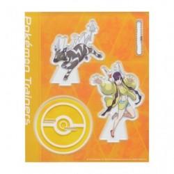 Acrylic keychain Pokémon Trainers Elesa and Zebstrika japan plush