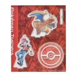 Acrylic keychain Pokémon Trainers Red and Charizard japan plush