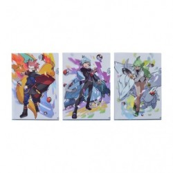 A4 Clear File Pokémon Set x3 Pokémon Trainers Lance Steven Stone and Natural Harmonia Gropius  japan plush