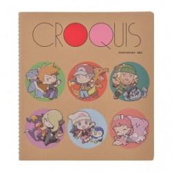Crocky book Pokémon Trainers Deformed Art japan plush