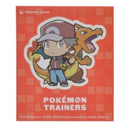Sticker Pokémon Trainers Red and Charizard japan plush