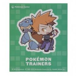 Sticker Pokémon Trainers Blue and Blastoise japan plush