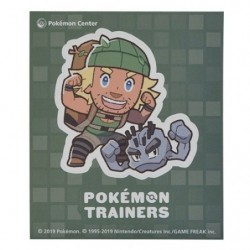 Sticker Pokémon Trainers Montagnard et Alola Racaillou japan plush