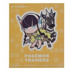 Sticker Pokémon Trainers Inezia et Zéblitz japan plush