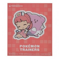 Sticker Pokémon Trainers PokéCenter Nurse and Blissey japan plush