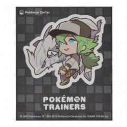 Sticker Pokémon Trainers Natural Harmonia Gropius and Reshiram japan plush
