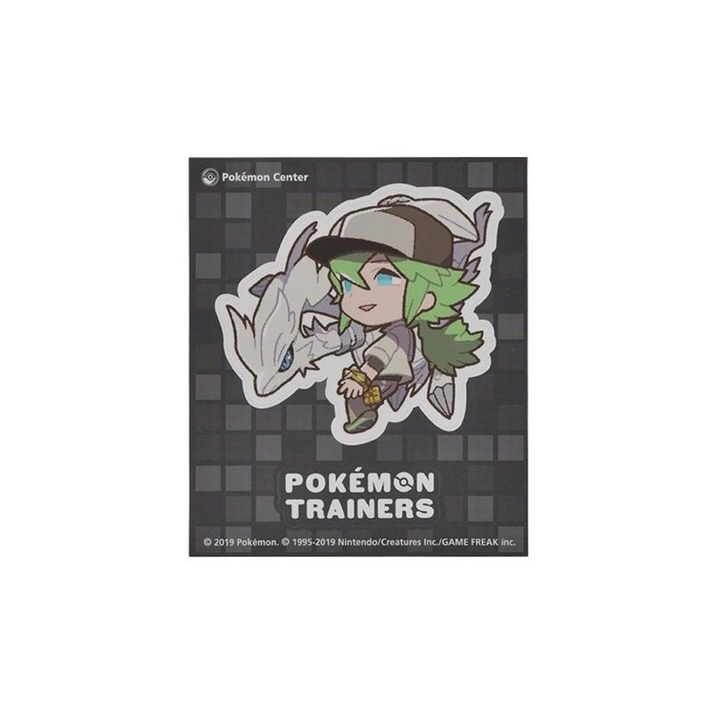 Sticker Pokémon Trainers Natural Harmonia Gropius and Reshiram