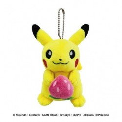 Keychain Plush Pikachu Strawberry japan plush