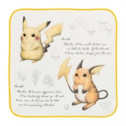 Serviette Mains Pokemon Pikachu Raichu Researcher Collection japan plush