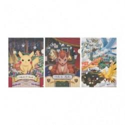 A4 Clear File 3 Set Pokemon Researcher Collection japan plush