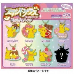 Stained Glass Ball Chain Pikachu japan plush