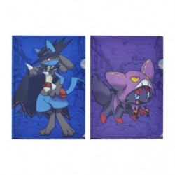 A4 Clear File Set Halloween Lucario japan plush