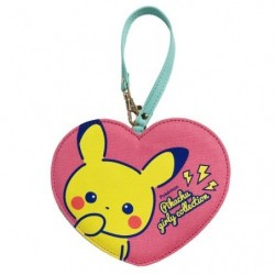 Pass case Heart Pikachu Girly japan plush