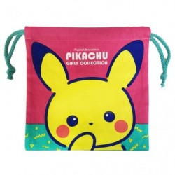 Drawstring bag Pikachu Girly japan plush