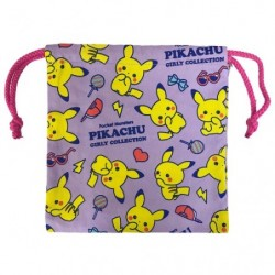 Drawstring bag really Pikachu Girly japan plush