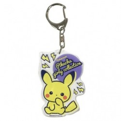 Porte-clés acrylique Biri-biri Pikachu Girly japan plush