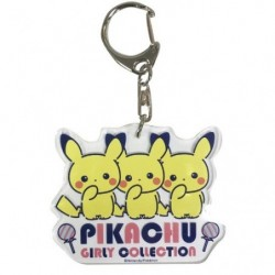Acrylic keychain Pikachu Girly Logo japan plush