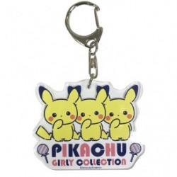 Acrylic keychain Pikachu Girly Logo japan plush