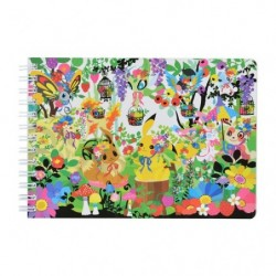 Spiral notebook B6 Berry's forest and Ghost's castle japan plush