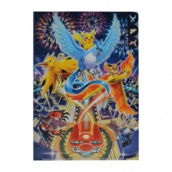 A4 3 Pocket Clear File Pokemon Center DX