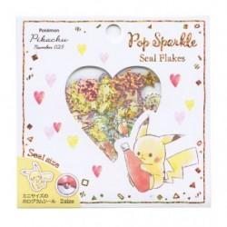 Pop Sparkle Seal Flakes Pikachu number025 japan plush