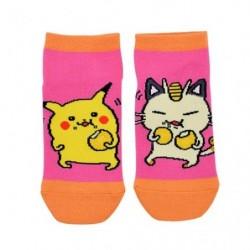 Chaussettes Courtes Pikachu Miaouss 24 Jikan Pokémon Chu 23-25cm japan plush