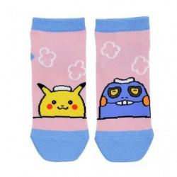 Chaussettes Courtes Pikachu Cradopaud 24 Jikan Pokémon Chu 23-25cm japan plush