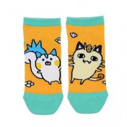 Short socks Meowth Pachirisu 24 Jikan Pokémon Chu 23-25cm japan plush