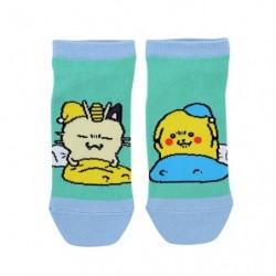 Chaussettes Courtes Pikachu Miaouss 24 Jikan Pokémon Chu Mezamashikakutou japan plush