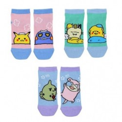 Short socks 24 Jikan Pokémon Chu 3Set V2 japan plush