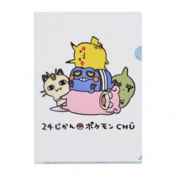 A4 Clear file 24 Jikan Pokémon Chu japan plush