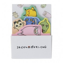 Box sticky note 24 Jikan Pokémon Chu japan plush