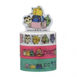 Masking tape 3Set 24 Jikan Pokémon Chu japan plush