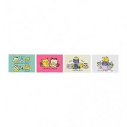 Carte postale x4 24 Jikan Pokémon Chu japan plush