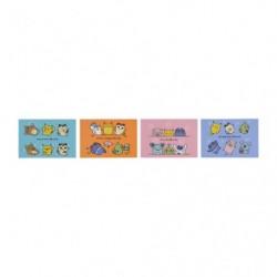Carte postale x4 24 Jikan Pokémon Chu Kaifuku japan plush