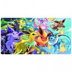 Rubber Playmat Pokemon Card Game Dash Eevies japan plush