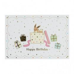 Carte de Voeux Joyeux Anniversaire Evoli Amis japan plush