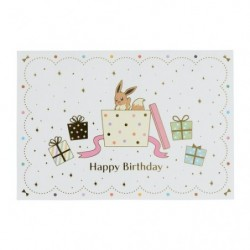 Greeting Card Happy Birthday Eevee Friend japan plush