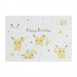 Greeting Card Happy Birthday Pikachu japan plush