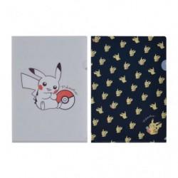 A4 Clear File Pikachu Zuri japan plush